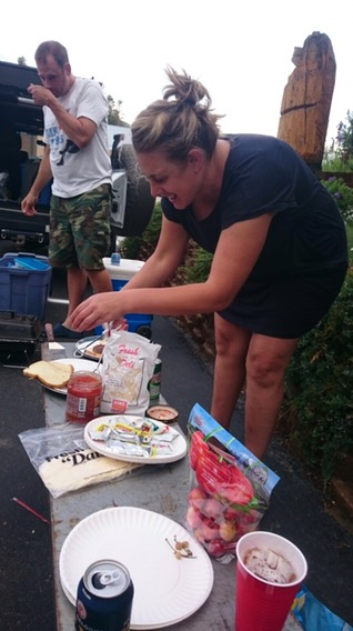 Random folks making us dinner on the 4th of July Holiday, why? Because America is full of good people so don't lose sight of that