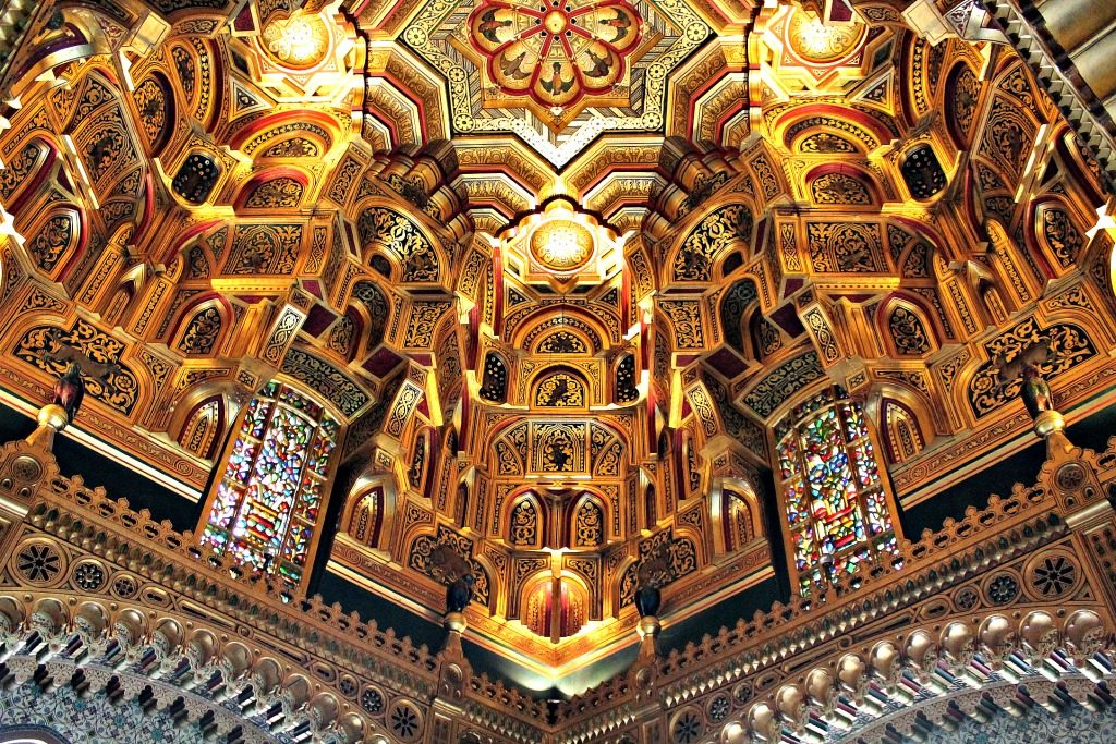 The Arab Room ceilings in Cardiff Castle. www.thedailyadventuresofme.com