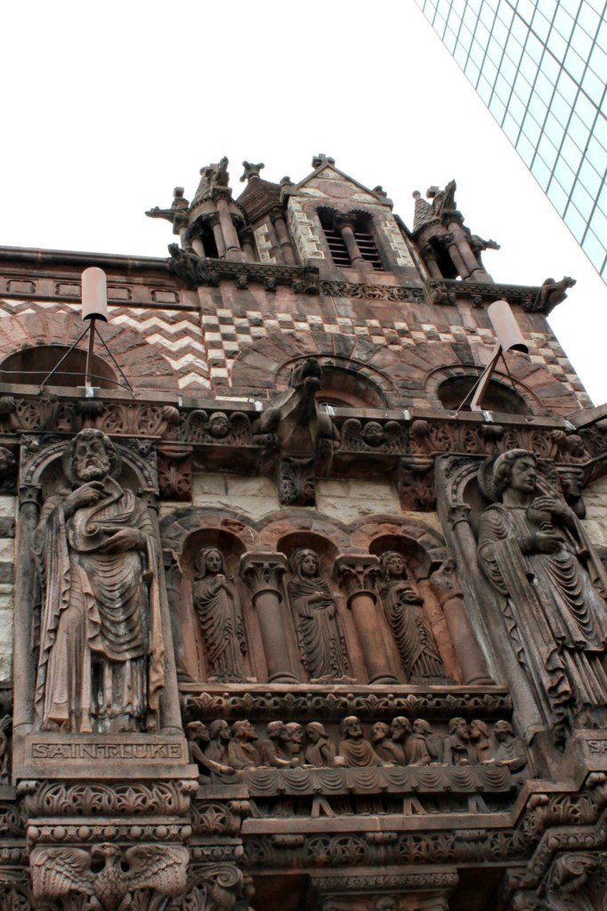 The four gospel writers on Trinity Church in Boston. Part of my spring in Boston tour.