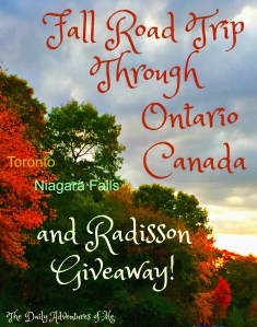 Southern Canada is a great place to leaf peep, enjoy natural beauty, food and art. Read on and enter to win a e-certificate for a one night stay at any Radisson worldswide. #sponsored #staycanada #Radisson #fall #roadtrip #Canada