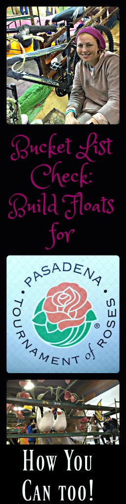 Get involved in the Pasadena Tournament of Roses Floats. www.thedailyadventuresofme.com