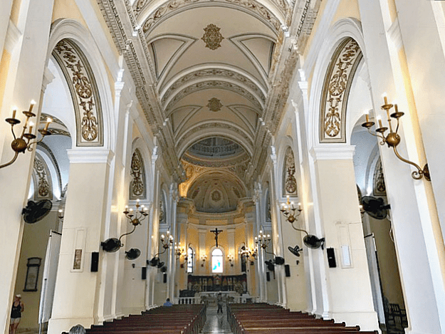 The interior of the Cathedral of St. John the Baptist in Old San Juan, Puerto Rico. www.thedailyadventuresofme.com