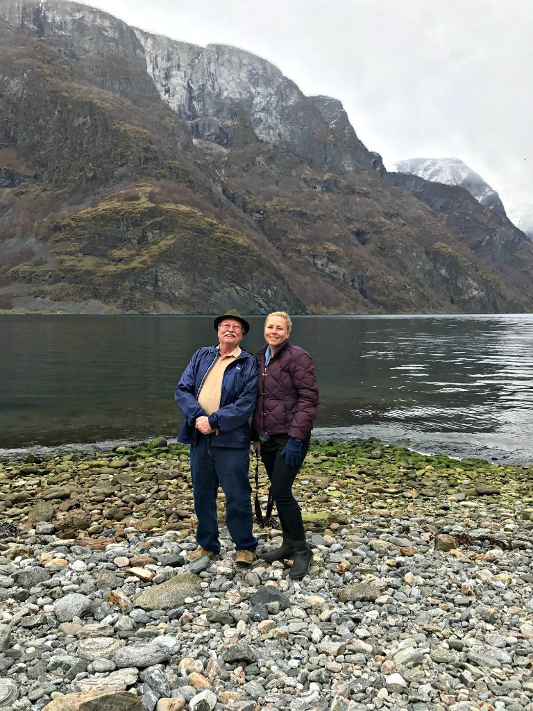 On the banks of Undredal's fjord. www.thedailyadventuresofme.com
