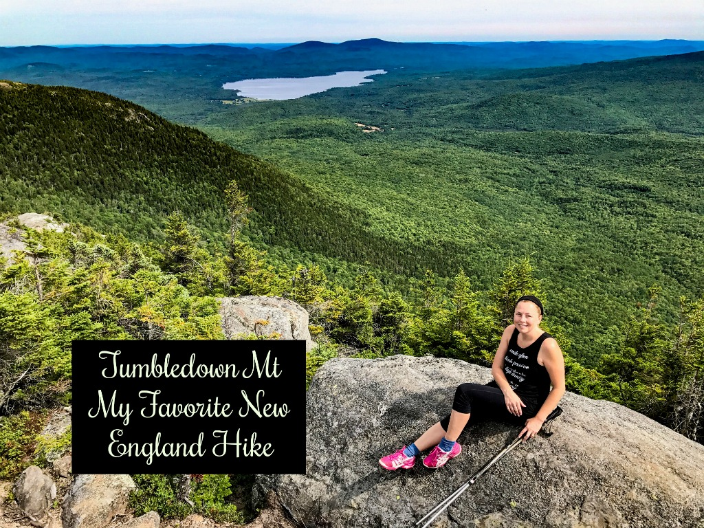 Tumbledown Mountain in Maine. One of my favorite Maine hikes to one of the prettiest views in Maine.