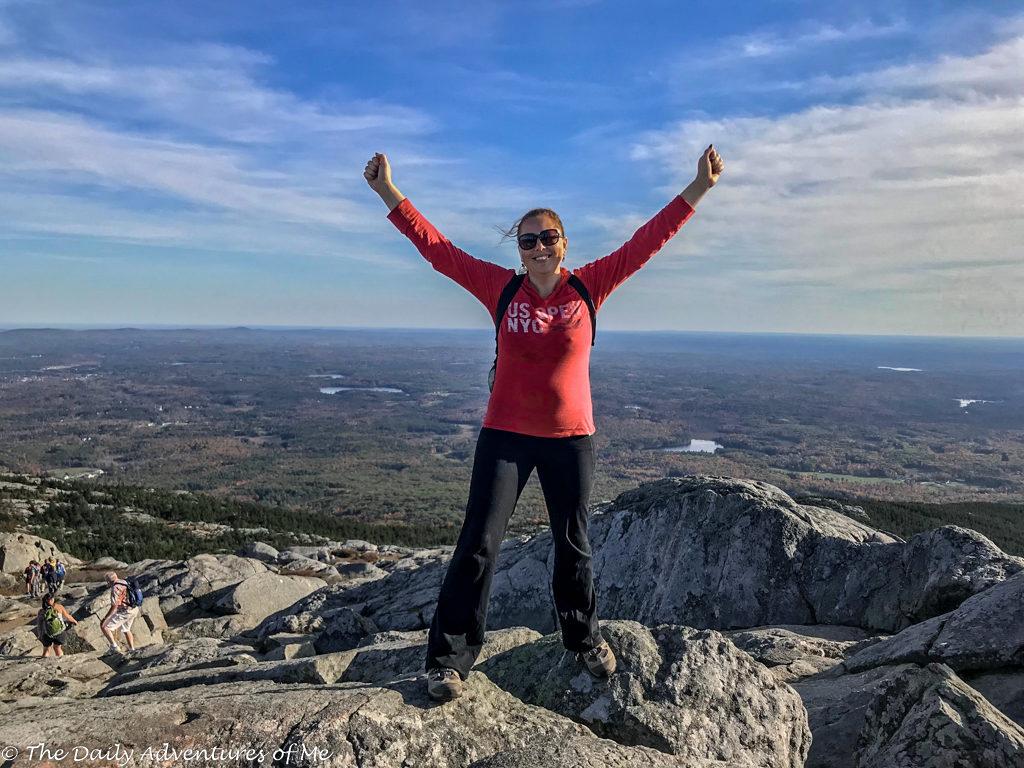 Jamie on Mount Monadnock, New Hampshire. thedailyadventuresofme.com