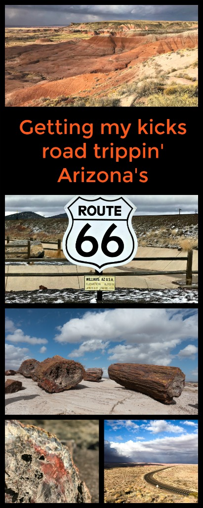 Explore the historic Route 66 as you road trip through Arizona. Cafes, craters, petrified wood, Native American culture. Join me exploring Arizona's Route 66. #Route66 #ArizonaRoute66 #WinslowArizona #TBIN
