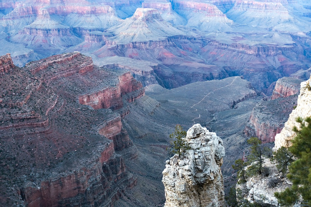 Visiting the Grand Canyon in winter.
