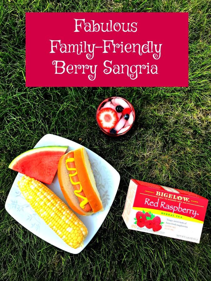 Make your barbecue both healthier and more exciting with this easy-to-make family-friendly nonalcoholic sangria recipe. #AD #teaproudly #barbecuerecipe #summerrecipes #summerrecipe #drinkrecipe #recipe #summer #drink #icedtea #icedtearecipe