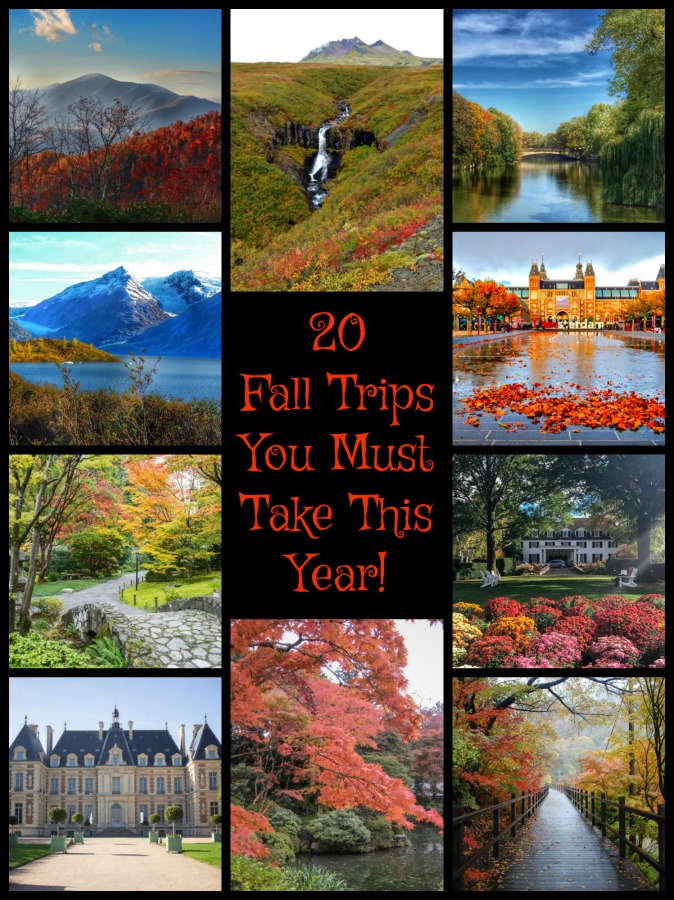 Don't wait, start planning your October trip right now. Read on to find 20 of the best spots to visit in the fall. #TBIN #OctoberTravels