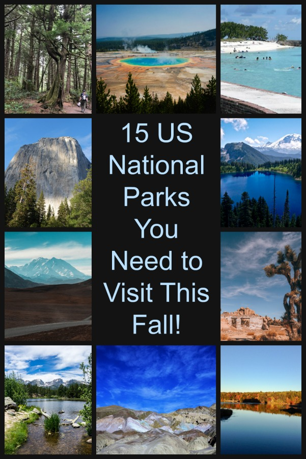 Get outside and enjoy the beauty of the US National Parks in fall- Less crowds and cooler weather make fall a perfect time to visit. #falltrips #USNationalparks #TBIN
