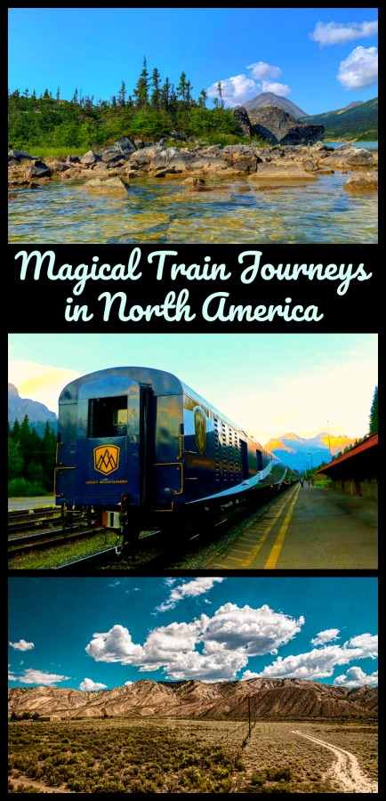 Read on for 7 of the best train journeys in the United States and Canada. A few are short hops and some are across the country. #trains #journeys #traintrips