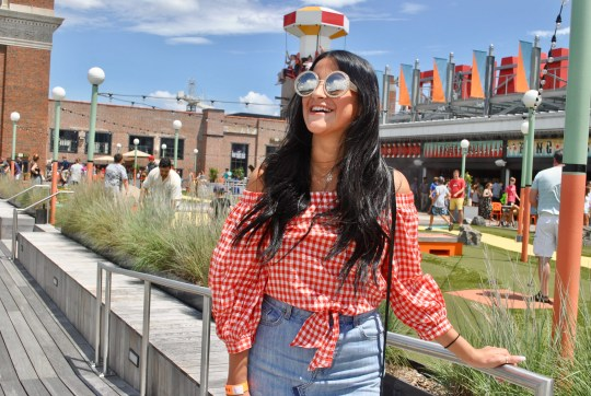 Country Vibes: Gingham and Denim Skirt