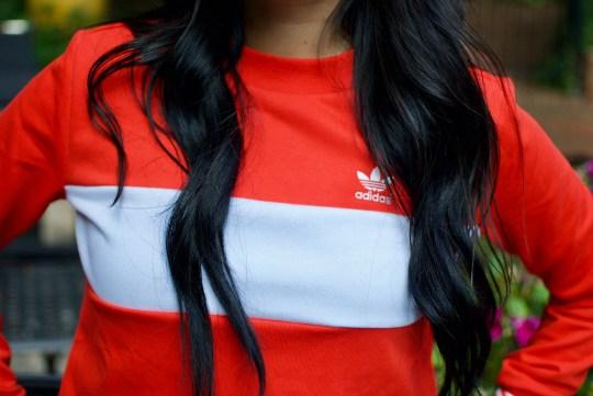 Red Adidas Crew Neck