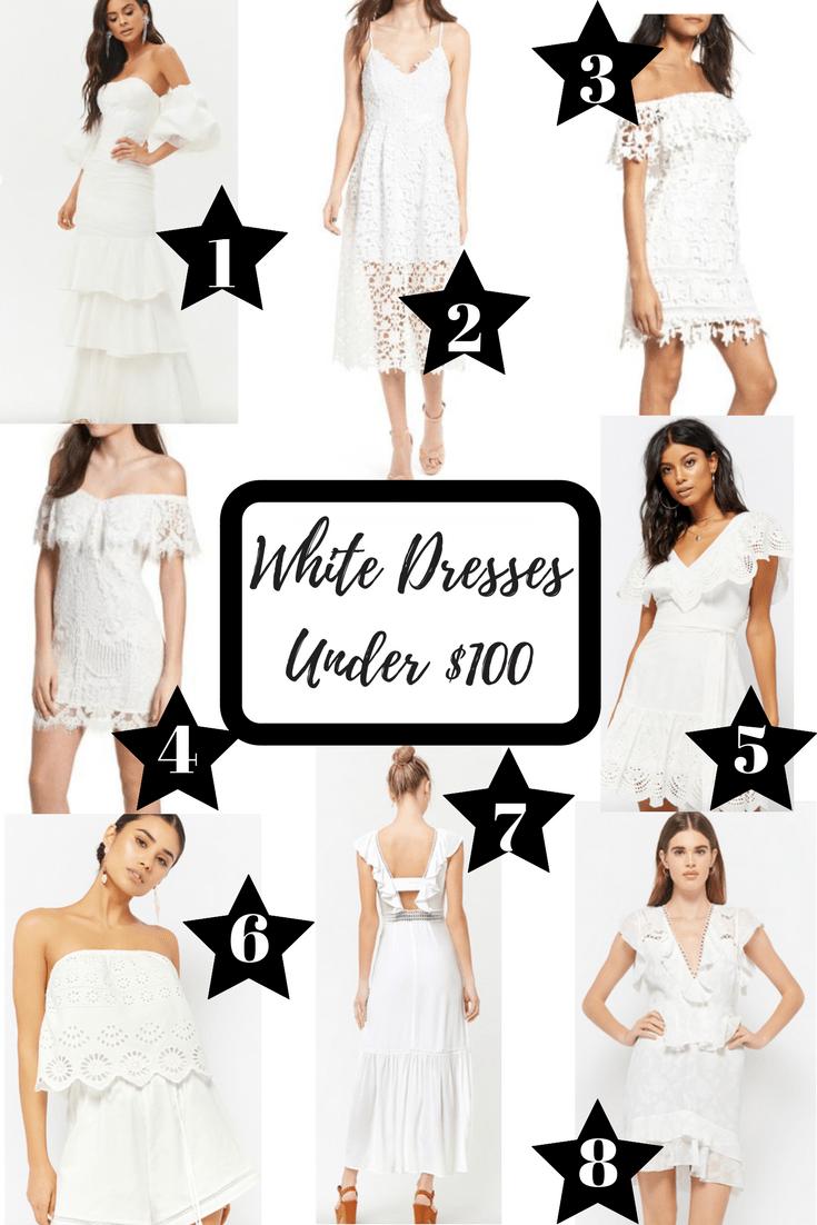 White Dresses Under $100