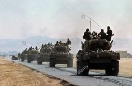 m-51-sherman-column-o-the-way-to-the-golan