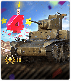 World of Tanks Blitz: Celebrate 4th Birthday with Fancy Moves
