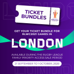 RLWC2021 TICKETS IN HIGH DEMAND AS TOURNAMENT TICKETS GO ON SALE TO RUGBY LEAGUE FANS
