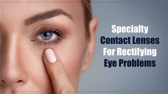 different types of specialty contact lenses for rectifying eye