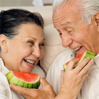 coupleeatingwatermelon
