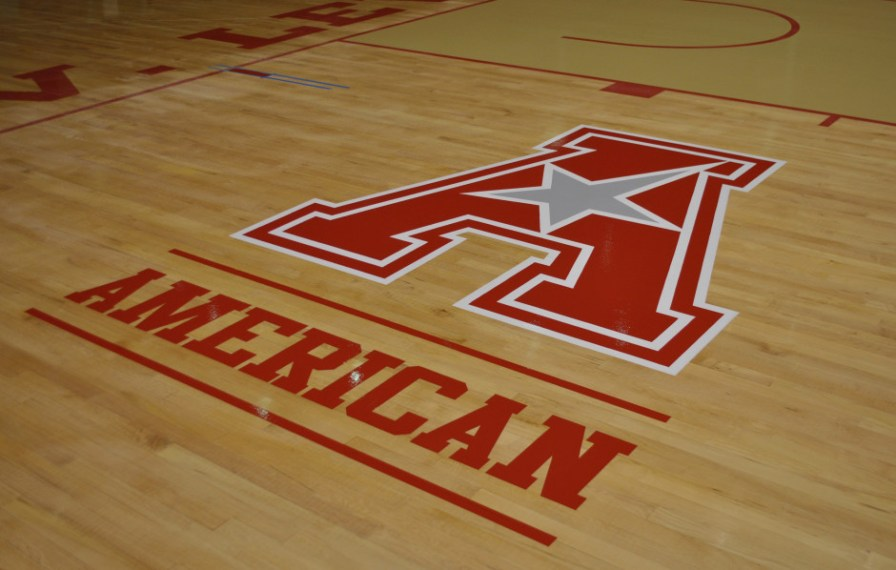 Here, the new American logo is complete. | Courtesy of UH Athletics