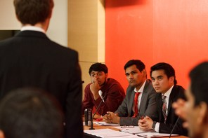 Counselors had 30 minutes each to present their evidence to the SGA Elections Trial Board, 15 minutes each to cross examine witnesses and 2 minutes each for closing arguments. The panel of four judges ruled on each of the cases. | Justin Tijerina/The Daily Cougar
