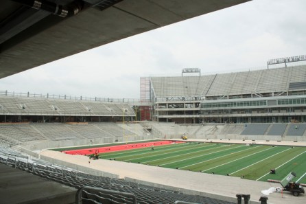 The west end zone will prominently show the Houston skyline. | Emily Chambers/ The Daily Cougar