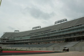 Most of the seats and lights have already been installed at TDECU Stadium| Emily Chambers/ The Daily Cougar