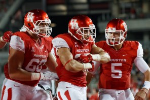 Junior running back Kenneth Farrow continued to prove his strength in the backfield as he rushed for 113 yards and a touchdown Saturday night against UNLV. | Justin Tijerina