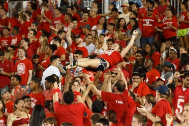 Cougar fans came out in full force Saturday night and made sure to stay involved all throughout the 47-0 victory. | Justin Tijerina/The Cougar