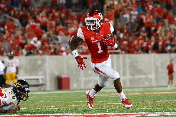Sophomore quarterback/reciever Greg Ward rushed for the game's first touchdown. Ward continued to see frequent action throughout the game. | Justin Tijerina/The Cougar