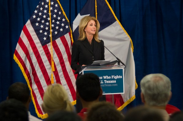 Wendy Davis speaks to students. | Steven Chambers/The Cougar