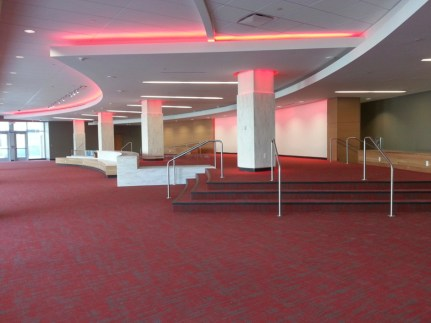 The new Legacy Lounge will include a wall of bricks that alumni can buy in order to commemorate their time at UH. The wall can hold up to 350 blocks.   Glissette Santana/The Cougar