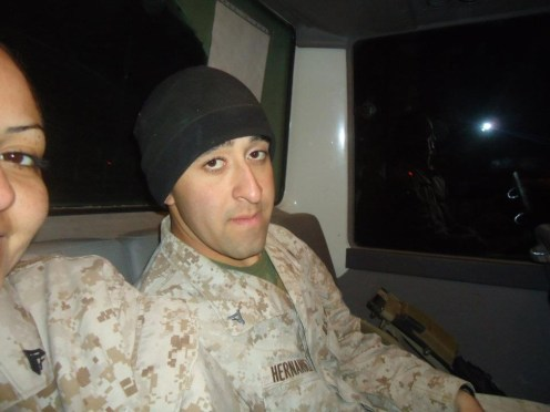 THEN: Sgt. Martin Hernandez when he was stationed in Afghanistan. | Courtesy of Martin Hernandez