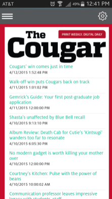 The Cougar's latest headlines are also available on the app. | Glissette Santana/The Cougar