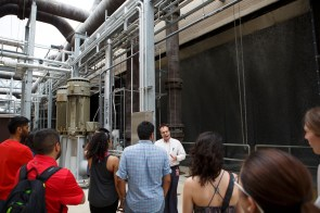 Central Plant has five new cooling towers, which protect equipment from overheating.   Justin Tijerina/The Cougar