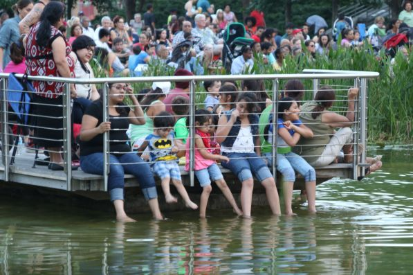 Families packed into the park hours before the dances began. | Trey Strange/The Cougar