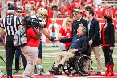 Former President George H.W. Bush was a guest of honor at the game, performing the coin toss. | Justin Tijerina/The Cougar
