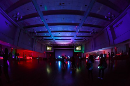 This event was the homecoming board's first ever Silent Disco party. | Photo by Justin Tijiera/The Cougar.