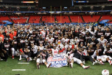 The Peach Bowl-winning Houston Cougars. | Justin Tijerina/The Cougar