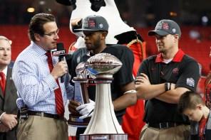 Quarterback Greg Ward, Jr. speaks with ESPN. | Justin Tijerina/The Cougar
