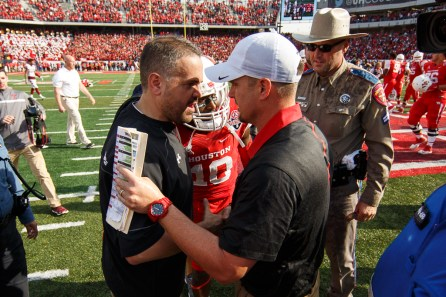 Head coach Tom Herman is 12-1 as a head coach in his career at UH for a win percentage of .923. | Justin Tijerina/The Cougar