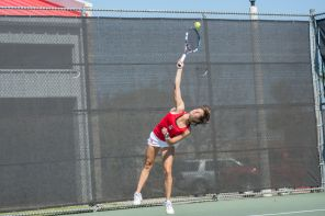 The tennis team extended its winning streak to four games with a win over 51st-ranked University of New Mexico on Saturday. | Justin Cross/The Cougar