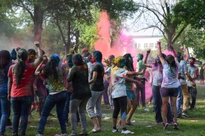 CEO hosted the Holi festival, an annual Hindu springtime holiday that occurs in February or March. | Robyn Archer/The Cougar