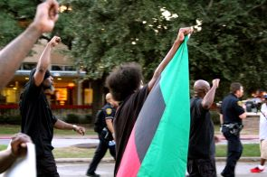 Along with student activists Deondre Moore and Jerry Ford, members of the People's New Black Panther Party were present as well. | Thom Dwyer/The Cougar