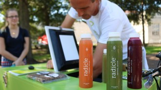 Radicle offers four juices in flavors No Name*, The OG, Cali and Lucy's Juice. | Jessica Cruz/The Cougar