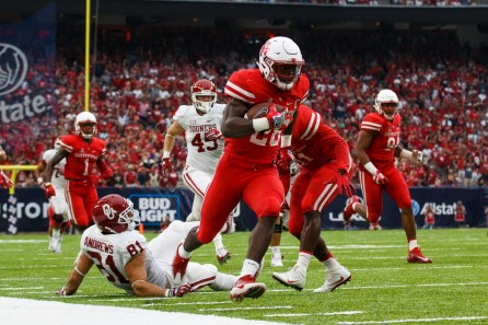 Senior cornerback Brandon Wilson continued his special teams success, converting a missed Sooner field goal into a touchdown for UH. | Justin Tijerina/The Cougar