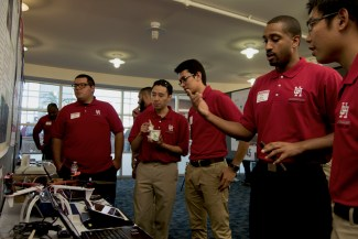 Computer engineering senior Preston Pierott and his team's drone security system was one of the few projects that took advantage of drone technology's growing possibilities. | Ajani Stewart/The Cougar