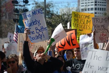 """""""His stroke of the pen should not affect this many people this greatly,"""" said Norma Mottu, a student at the South Texas College of Law and one of the event's speakers. 