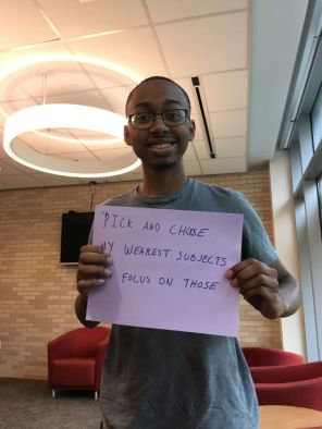 """""""My favorite way to study for finals would be to find a good, calm, quiet location and pull up all the things I have to do,"""" said exploratory studies freshman La-Sean Caselberry. """"I don't necessarily pull up everything and have this giant pile of things to do. I just choose the things that I feel are my weakest subjects."""""""