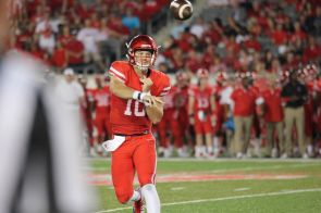 Kyle Allen was almost perfect on the night, completing 31 of 33 passes for 309 yards and two touchdowns.   Thomas Dwyer/The Cougar